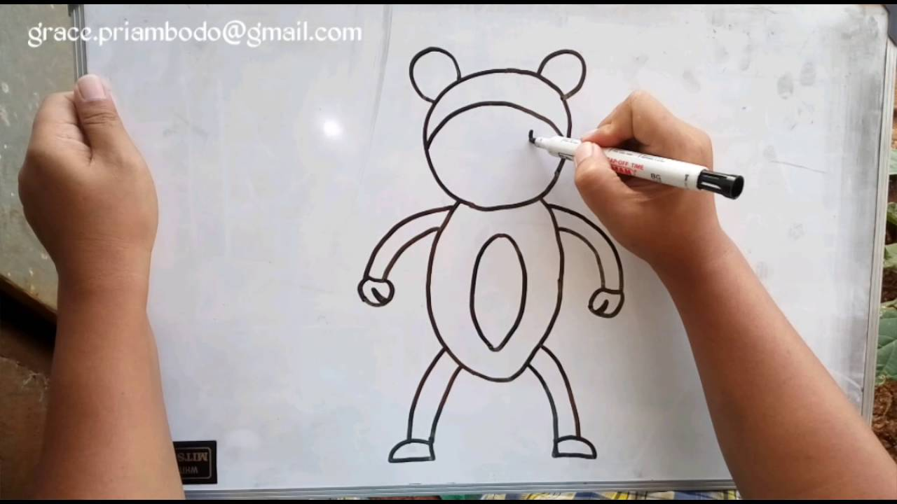 How To Draw Monkey In Simple Way Cara Menggambar Monyet Dengan