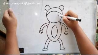 How to draw monkey in simple way / cara menggambar monyet dengan sederhana