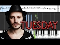 Burak Yeter Tuesday Ft Danelle Sandoval Piano Tutorial mp3