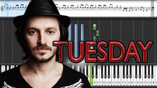 Burak Yeter - Tuesday ft. Danelle Sandoval (Piano tutorial)