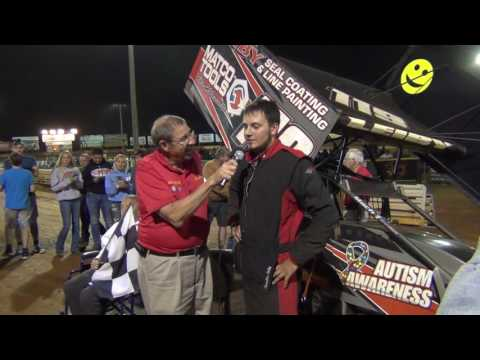 Lincoln Speedway 358 Sprint Car Victory Lane 09-03-16