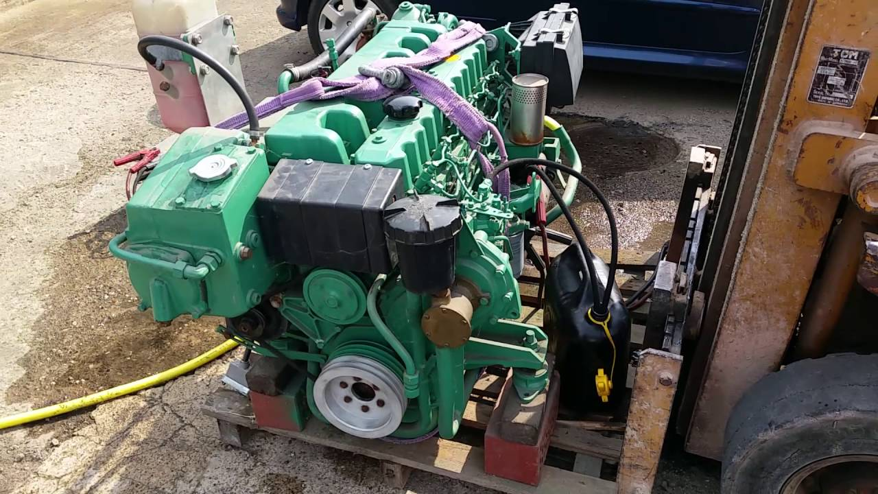 How Does A Diesel Engine Work >> Volvo Penta AQAD 40 A Probelauf - YouTube