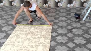 как клеить флизилиновые обои ( мастер-класс )(В этом видео я показываю как быстро и качественно резать и клеить одному флизилиновые обои., 2014-08-16T10:52:35.000Z)