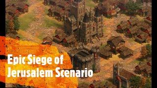 Epic Siege of Jerusalem Scenario Age of Empires 2 Definitive Edition
