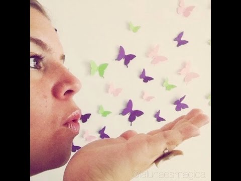 How to Make Paper Butterfly Easy (very easy) - DIY Crafts Butterfly Let's Rock Engineers