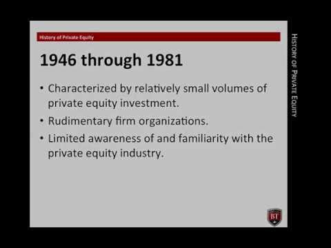 The History of Private Equity