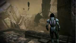 Mass Effect 3: Thresher Maw kills a Reaper on Tuchanka