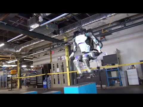 Boston Dynamics ATLAS Robot Does Backflips and learns Parkour