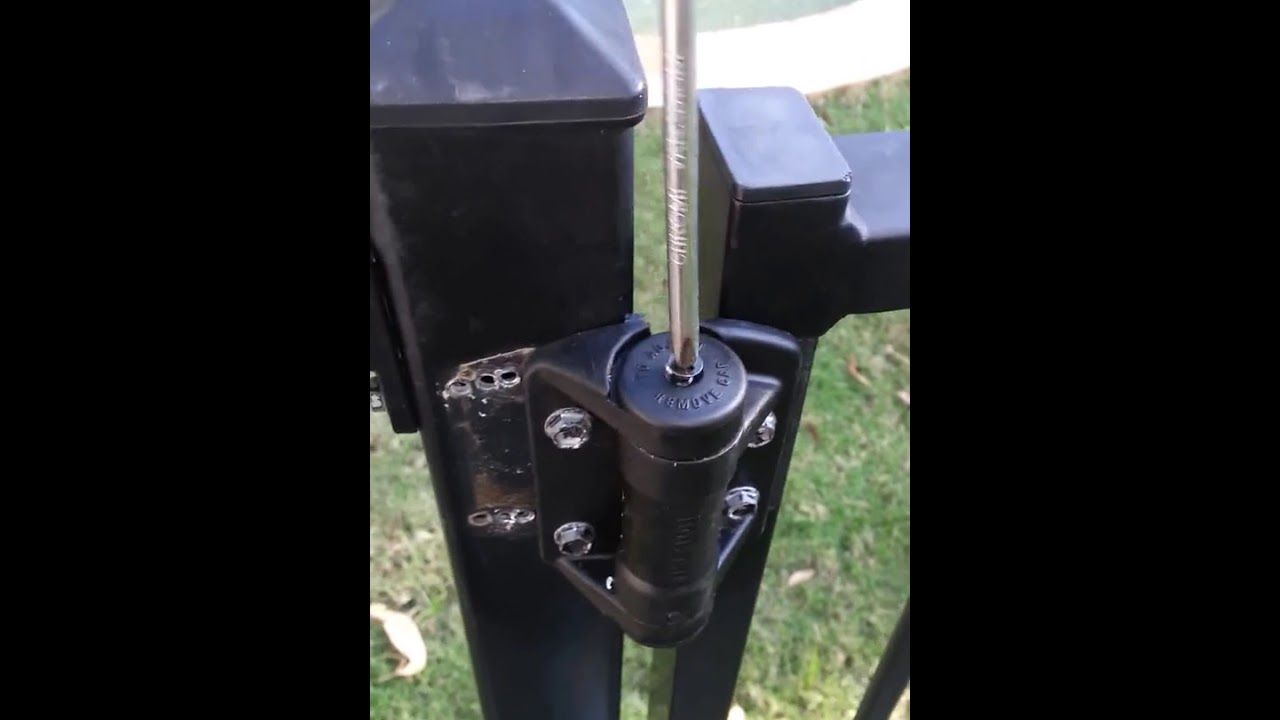 Adjusting Pool Gate Hinges Youtube