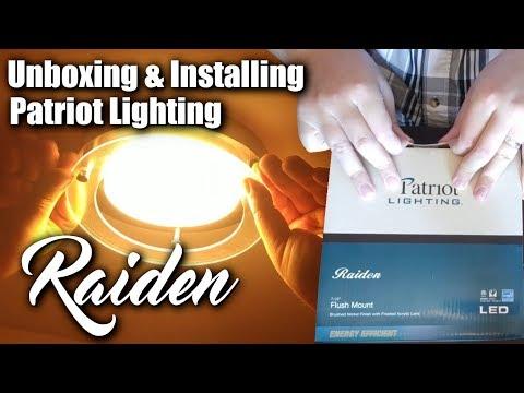 Patriot Lighting Raiden Ceiling Light Unboxing