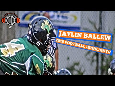 Jaylin Ballew - Class of 2024 - WR,TE,LB - 2018 Highlights