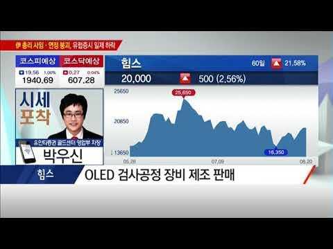 [시세포착] 삼성디스플레이·中 업체 투자 확대로 수혜볼 OLED 장비주! /(증시, 증권)