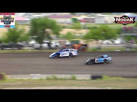 Nodak Speedway IMCA Sport Mod Heats (Motor Magic Night #1) (9/1/18)