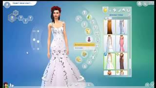 Sims 4\ Обзор мода на платье,причёску и помаду!