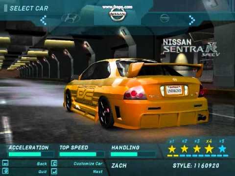 Need For Speed Underground My Custom Cars Youtube
