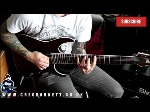 7 string guitar lesson - quick metal riff