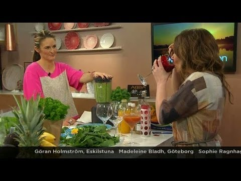 Kicka igång våren med hjälp av gröna smoothies - Nyhetsmorgon (TV4)