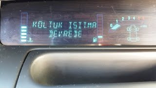 Renault Scenic Heat Seat ( koltuk ısıtma ) Orjinal