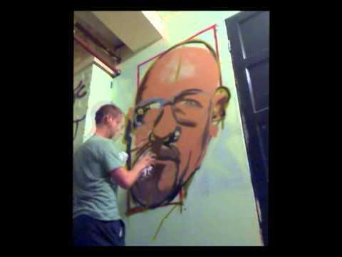 Walter White Graffiti (speed painting)