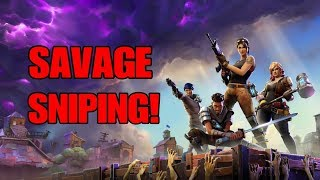 Fortnite Battle Royale (PS4) - SAVAGE WITH THE SNIPES! (15 KILLS)