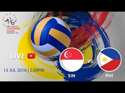 Volleyball Women's: Singapore v Philippines | 18th ASEAN University Games Singapore 2016