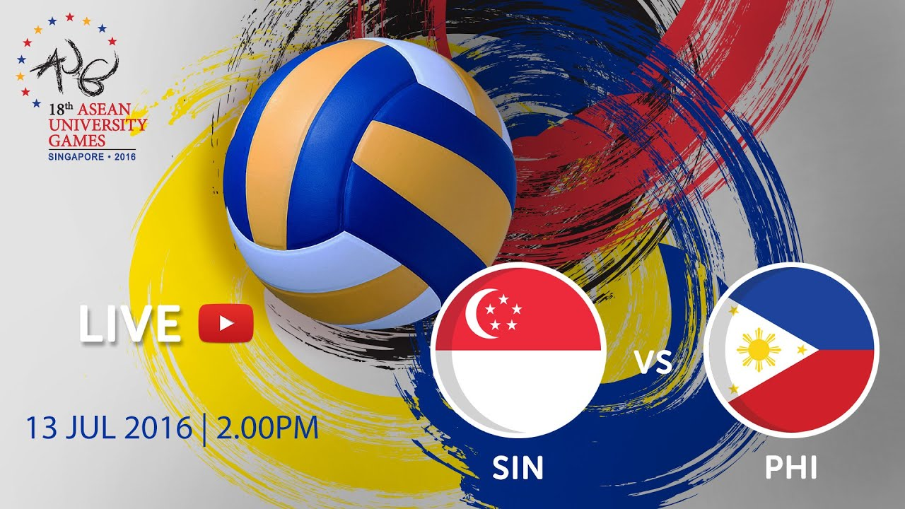 Volleyball Womens Singapore V Philippines Th Asean University Games Singapore  Youtube