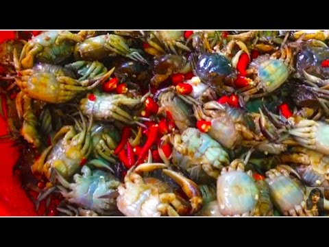 Asian Street Food, Daily Life And Activities In Cambodian Market, Fast Street Food In Asia