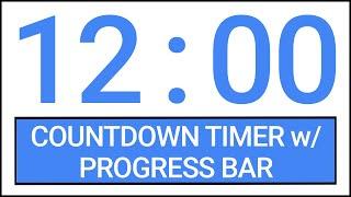 12 min Countdown Timer w/ Progress Bar #Timer #Countdown