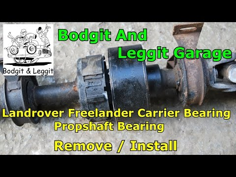 land rover freelander carrier bearing (propshaft bearing) replacement bodgit and leggit garage