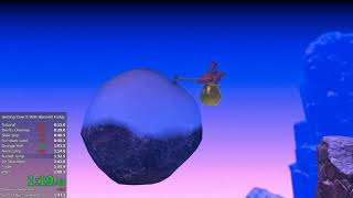 Getting Over It with Bennett Foddy - 2m 4.100s Speedrun (WR)