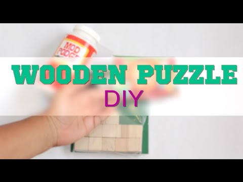 How to Make a Custom Wooden Puzzle - DIY