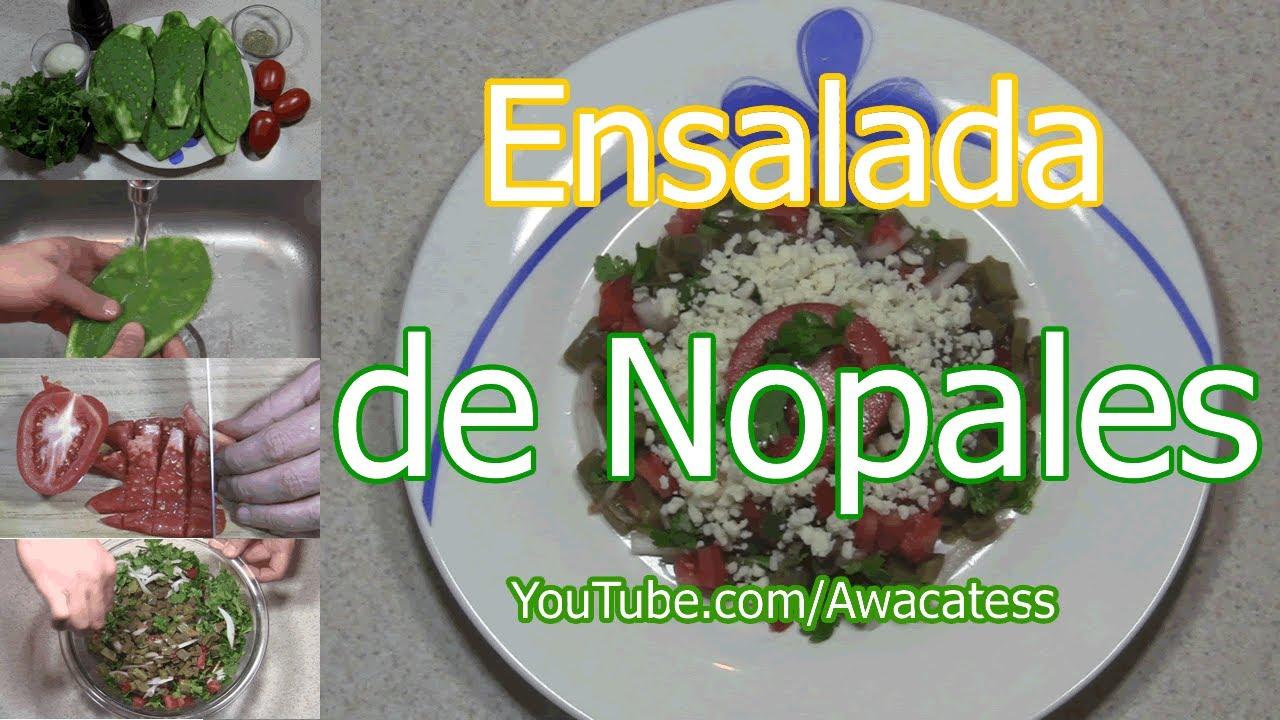 Como hacer ensalada de nopales recetas de cocina de platillos mexicanos faciles y economicos - Platos faciles de hacer ...