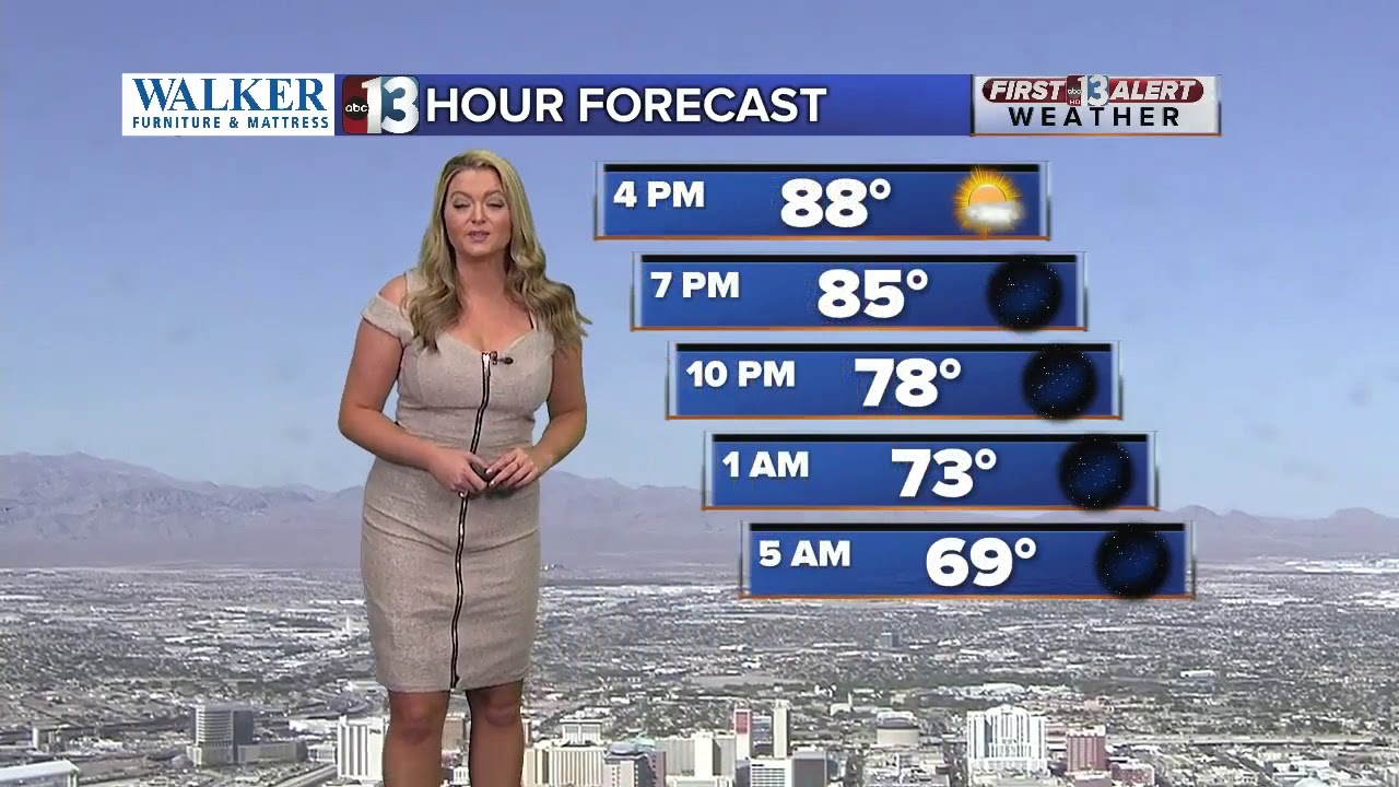 Las Vegas Weather 13 Hour Forecast At 3 Pm Youtube
