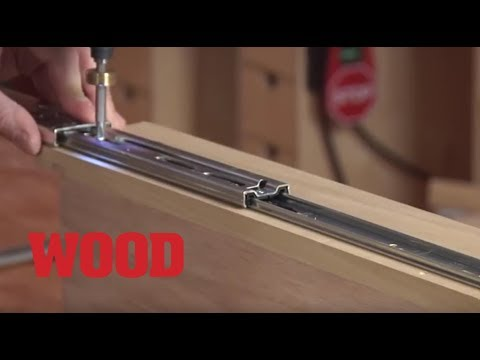How to Install 3 Types of Drawer Slides in Cabinets - WOOD magazine