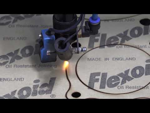 Laser Cutting Gasket Paper, Flexoid Gasket Paper Material Cut on TruCUT Laser Cutting Machine
