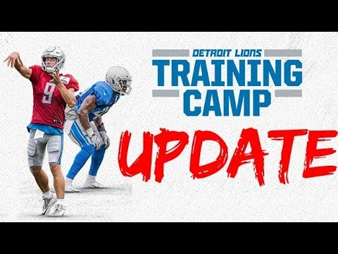 Detroit Lions Training Camp News/Updates