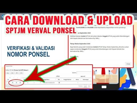 Cara Download dan Upload SPTJM Verval Ponsel Peserta Didik