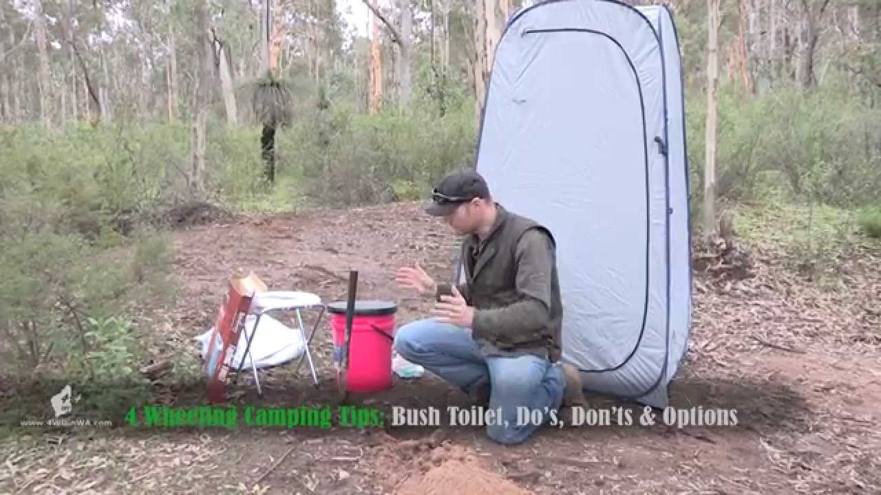 Camping Toilet tips, Bush Toilet & Portable toilet options - YouTube
