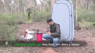 Camping Toilet Tips, Bush Toilet & Portable Toilet Options