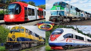 Изучаем поезда и железнодорожный транспорт для детей. Развивающее видео