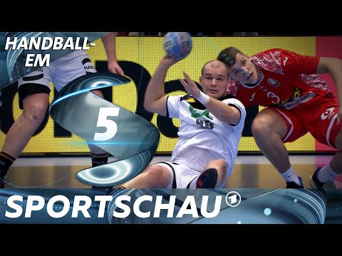 Sitzpass und Akrobatik - Topszenen aus Weißrussland gegen Deutschland | Handball-EM | Sportschau