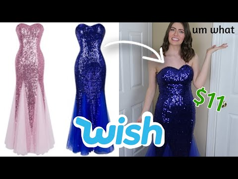 I Tried On Prom Dresses From Wish