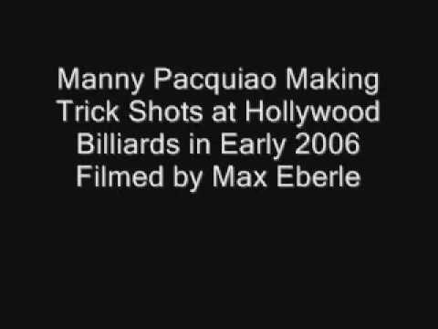 Younger manny pacquiao makes awesome pool trick shots - Awesome swimming pool trick shots ...