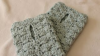 VERY EASY crochet shell stitch wrist warmers / fingerless gloves tutorial