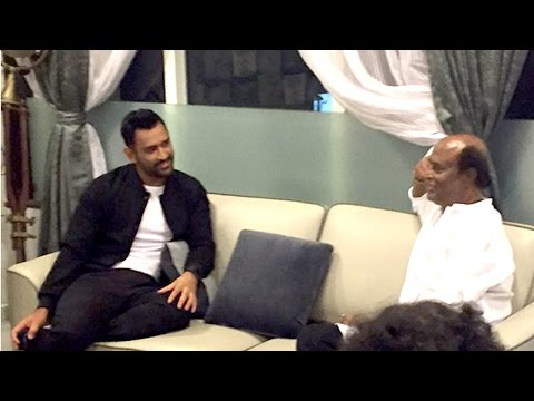 MS Dhoni Meets SuperStar Rajinikanth In His House In Chennai