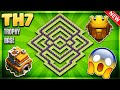"""INSANE"" BRAND NEW BEST TOWN HALL 7 [TH7] TROPHY BASE DESIGN 2018- Clash Of Clans"