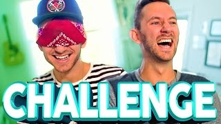 DRAW POP CULTURE BLINDFOLDED CHALLENGE | Matthias & J-Fred
