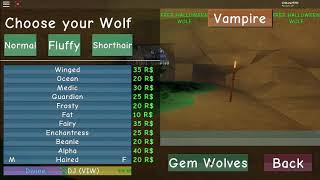 All wolf life 2 gem skin (roblox)