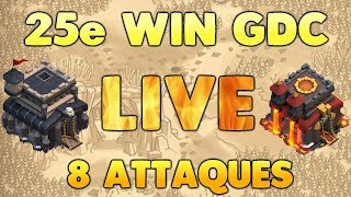 Clash of Clans - LIVE - 25e wins de suite en GDC - LIVE