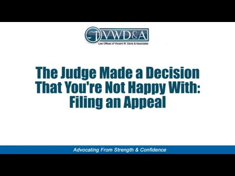 Appeal a Juvenile Dependency Case if Social Services Removed Your Kids -- CA Lawyer Vincent W. Davis